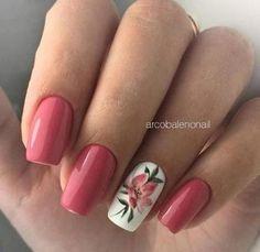 French Nail Designs, Short Nail Designs, Nail Art Designs, Pink Nails, Gel Nails, Acrylic Nails, Diy Rose Nails, Gel Toes, Perfect Nails