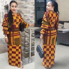 Super Stylish Ankara Long Gown Styles for Pretty Ladies.Super Stylish Ankara Long Gown Styles for Pretty Ladies African Print Dresses, African Print Fashion, African Fashion Dresses, African Dress, Fashion Outfits, African Attire, African Wear, African Women, Agbada Styles