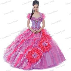 09be63d4490 ... Organza Rainbow Quinceanera Dresses With Jacket Free Shipping DS12-in Quinceanera  Dresses from Weddings   Events on Aliexpress.com