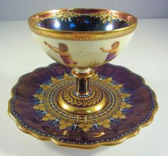 19 Century Dresden Lamm Porcelain Cup and Saucer   .....................................Please save this pin.   ............................................................. Click on this link!.. http://www.ebay.com/usr/prestige_online