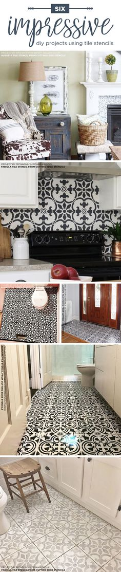 Cutting Edge Stencils Shares DIY Home Decorating Ideas Like Floors And  Backsplashes Using Tile Stencil Patterns