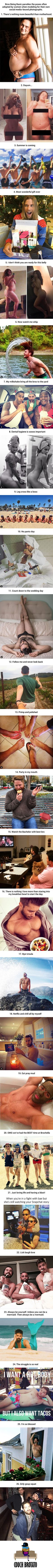 26 Times Men Recreate Clichéd Female Instagram Snaps And Nail It (By Bros Being Basic) - 9GAG
