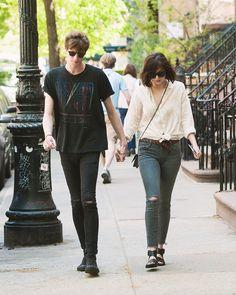 Dakota Johnson and Matthew Hittgo on a stroll through the West Village, May 7th 2015