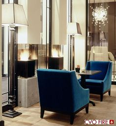 black contemporary cube gas fires dominican hotel