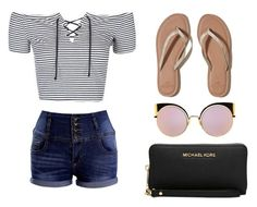 """Random"" by rownak on Polyvore featuring Topshop, Hollister Co., Michael Kors and Fendi"
