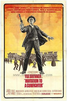 Invitation to a Gunfighter (1964) USA United Artists Western. Yul Brynner, Pat Hingle, George Segal. 30/6/09