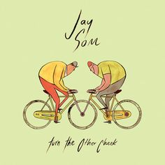 Jay Som - Turn the Other Cheek artwork Ios, Bike Drawing, New Music Releases, Tv Seasons, Music Charts, Bicycle Art, Special Guest, Good News, Good Music
