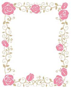 薔薇と植物フレーム_枠_飾り素材_176