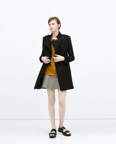 Image 1 of DOUBLE-BREASTED MILITARY-STYLE COAT from Zara