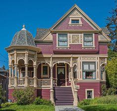 Alameda, California Victorian home (4/7/2014)  Micoley's picks for #VictorianHomes www.Micoley.com