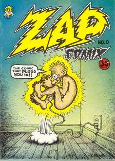 Zap Comix Cover Art by Robert Crumb Robert Crumb, Comic Book Covers, Comic Books Art, Comic Art, Book Art, Joker Comic, Lego Marvel, Zap Comics, Graphic Novels