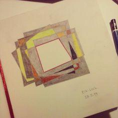 Erfolgreiche Prokrastination... #drawing #sketchbook #pencil #colourpencil #felttip #hole