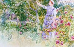 ART & ARTISTS: Carl Larsson - 'Beehives and Roses'