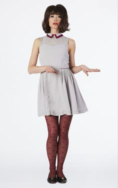Dear Creatures Fall 2013  Abigail Dress - Silver