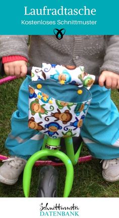 Laufradtasche Laufenradtasche free sewing instructions bicycle bag sewing children's bike puky i Diy Gifts For Kids, Crafts For Girls, Diy For Kids, Bag Sewing, Free Sewing, Baby Bike, Bicycle Bag, Fun Diy Crafts, Kids Bike