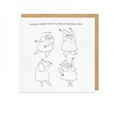 Interpretive Dance Square Greeting Card   Ohh Deer