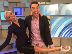 """<div class=""""mwn-gallery-slide-counter"""">1 of 14</div><h2>Jess with her Studio 10 co- host, Joe Hildebrand</h2><p>Image via Twitter @jessrowe</p>"""