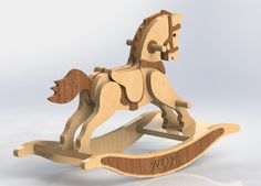 Wood Rocking Horse Free DXF File for Free Download | Vectors Art Rocking Horse Plans, Wood Rocking Horse, Cnc Projects, Woodworking Projects, Horse Caballo, Drawing Programs, Wooden Map, Decoupage Wood, Animal Puzzle