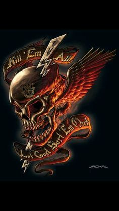 Attitude,angels developed to the fullest Skull Tattoo Design, Skull Tattoos, Body Art Tattoos, Tattoo Designs, Dark Artwork, Skull Artwork, Skull Painting, Ghost Rider Wallpaper, Skull Wallpaper