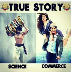 but mere saath to ulta h.science waale aish kar rhe h KR commerce waalon ki watt lagi padii h Funny School Jokes, Funny Jokes In Hindi, Super Funny Memes, Some Funny Jokes, Funny Qoutes, Crazy Funny Memes, Really Funny Memes, Jokes Quotes, Funny Relatable Memes