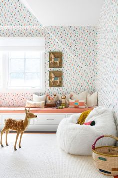 Wallpaper An Accent Wall Or The Whole Room Wallpaper An Accent Wall Or The Whole Room Little Crown Interiors Super Cute Light And Airy Confetti Wallpaper Sweet Fun And A Little Whimsical Cute For A Nursery Or Toddler Space Confetti Wallpaper, Bedroom Wallpaper Accent Wall, Wall Wallpaper, Creative Kids Rooms, Style Me Pretty Living, Playroom Design, Playroom Decor, Playroom Ideas, Kids Decor