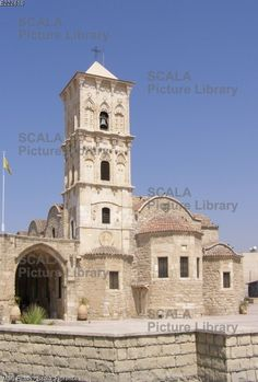 ******** Church of St Lazarus of Jerusalem, Larnaca, Cyprus. Church of St Lazarus of Jerusalem (Agios Lazaros), Larnaca, Cyprus: tower and entrance. Photograph by Lionel Coates