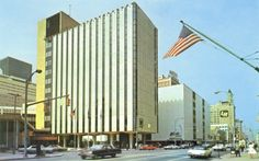 Security Trust visits) Dated about 1973 Pub. by Spector News Agency, Rochester, N. Made by Tichnor Bros. Rochester New York, Office Pictures, Banks Building, Local History, Historical Photos, Skyscraper, Maine, News Agency, Trust