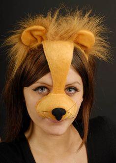 Lion Headpiece Mask On Headband