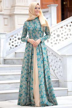 En modern Puane - Yeşil Abiye Elbise , en uygun fiyatla 9 taksit ve kapıda ödeme seçeneği ile tesetturisland.com'da