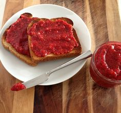 So many jams these days are full of preservatives and refined sugars. Try this simple Strawberry Chia Refrigerator Jam for a delicious jam that is ready in no time!