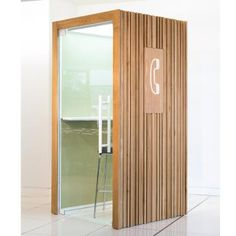Telephone Pod provides a private space for conference calls and independent work. Pod has a dB rating of up to 37 and can overcome workplace noise! Wood Cladding, Commercial Furniture, Create Space, Telephone, Wood Furniture, Tall Cabinet Storage, Box, Timber Cladding, Wood Siding