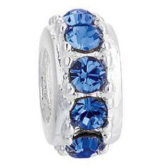 Ane Si Dora Sterling Silver Crystal Bead September Charm