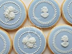 these cameo cookies are TDF.   Cookies Inspired by Wedgwood - Set of 6 Orange Vanilla Spice Cookies. $39.00, via Etsy.