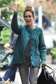 SJP cable knit sweater
