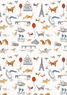 It's supposed to be for kids but I want it!  Fanciful Wallpaper by Little Cube: Remodelista