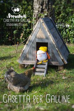 casetta per galline nane fai da te