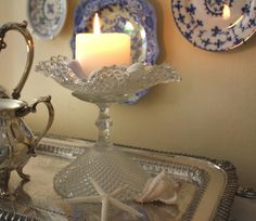 One or two shells can make a statement on their own.  My Romantic Home: Show and Tell Friday!