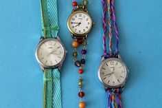 Isn't it about time you made a watch wrap bracelet? First, you're going to need a time sensitive playlist, filled with tracks like Closing Time, One More Time, Time After Time, and the like. Well guess what? We made you one! Seriously though, this DIY project is a great way to update old watches in a way that perfectly combines fashion and function. Whether you're into the modern leather trim look, love the beaded necklace style, or are looking for any excuse to wear a friendship ...