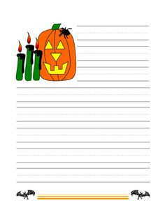 halloween writing worksheets for kids   Printable Halloween Writing Paper