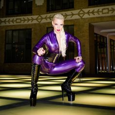 "marcustphotography: "" Honeyhair @honeyhair_model posing in Berlin wearing latex by Rubber Eva (rubberevashop.com) shined with Vivishine @vivishine.company and boots by ExtraBoty (extraboty.cz) See more photos from this shoot at my Facebook page..."