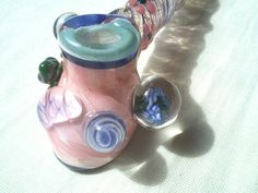 Girly Glass Pipe Pink Princess by XylieGlass on Etsy, $80.00