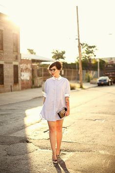 Vivetta Hand Collar Shirtdress