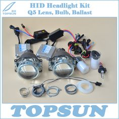 Free Shipping Car Light Kit H4 Projector Lens 3 Inches Q5 Koito Bixenon, 35W HID Xenon Headlight Bulb D2H and Ballast