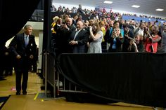 President Barack Obama waits for his final introduction before making remarks at Lawson State Community College in Birmingham, Ala., March, 26, 2015. (Official White House Photo by Pete Souza)
