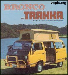 Volkswagen T3 T25 VANAGON VW: CATALOGOS: 1984 y 1990 australia BRONCO TRAKKA