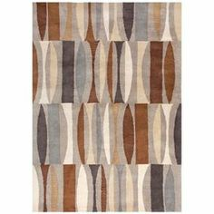 Stylish and sophisticated, this artful rug showcases an abstract geometric motif and expertly hand-tufted design.   Product: RugConstruction Material: WoolColor: Brown and grayFeatures:  Hand-tuftedDurableEasy care  Note: Please be aware that actual colors may vary from those shown on your screen. Accent rugs may also not show the entire pattern that the corresponding area rugs have.Cleaning and Care: Vacuum regularly. Professional cleaning recommended.