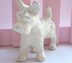 Cast Iron Scottie Dog Figurine  Paper Weight by Thepinkpicketfence, $12.50 Would be so cute in a little girl's room!