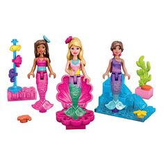 "Mega Bloks Barbie Mermaid Party - 41 Pieces - MEGA Brands - Toys ""R"" Us"