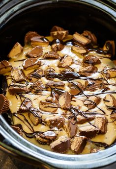This easy to make Slow Cooker Chocolate Peanut Butter Cake makes a wonderful picnic or potluck dessert. Since it cooks in the crock pot there's no need to heat up the kitchen. Desserts have become one of my favorite things to make in the slow cooker and they are especially convenient for the hot …