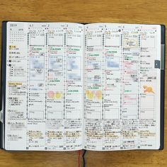 Jibun Techo diary weekly spread by ig Japanese Handwriting, Jibun Techo, Weekly Spread, Hobonichi, Study Notes, Happy Planner, How To Plan, Paper, Planner Ideas